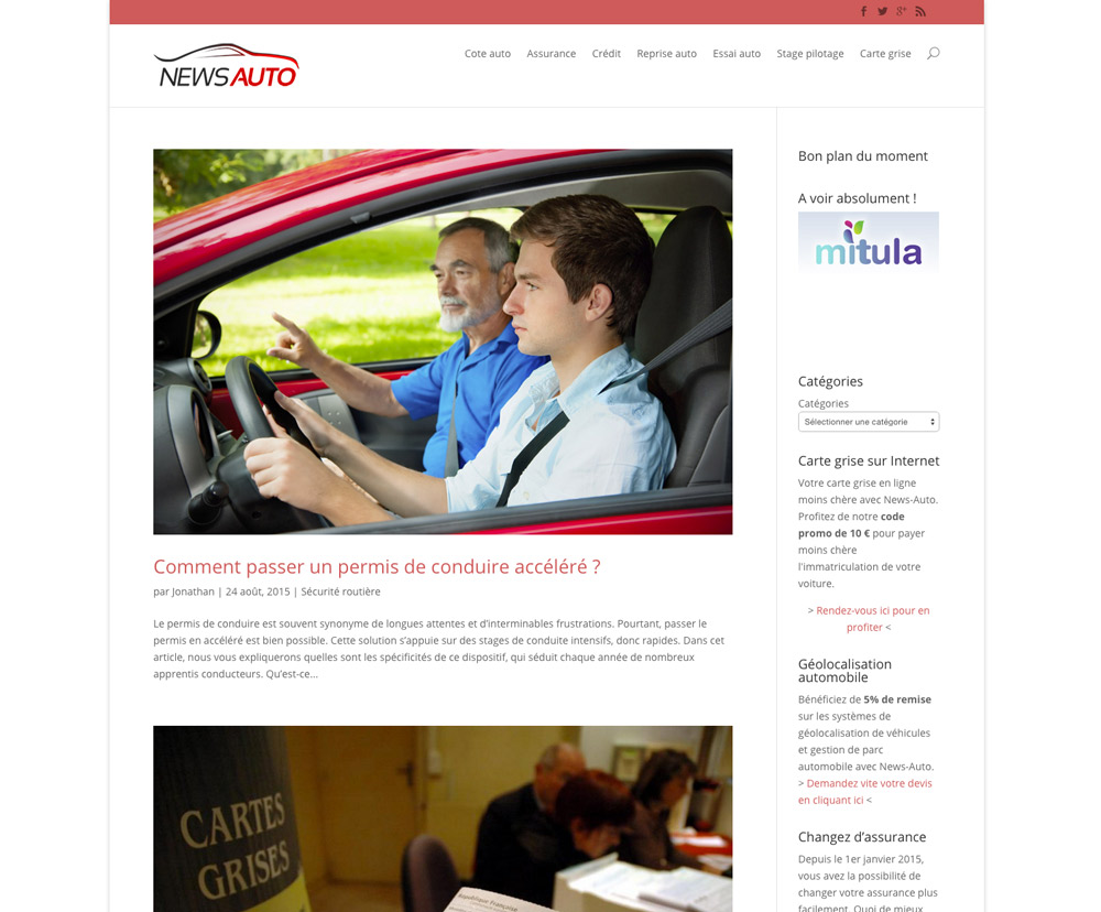 Page accueil News-Auto.fr